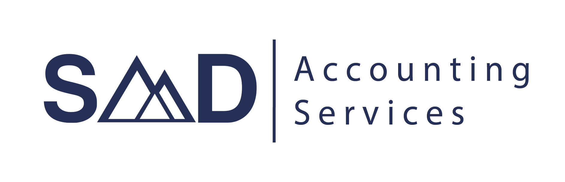 Logo for S-M-D Accounting Services L-L-C in navy blue